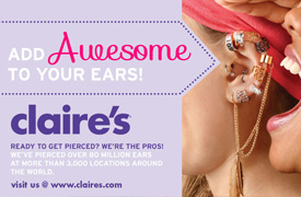 Available at Claire's in Dyersburg Mall